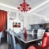 šviesaus dizaino kambarys art deco stiliaus nuotraukoje