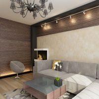 gaišs guļamistabas stils šokolādes krāsas attēlā