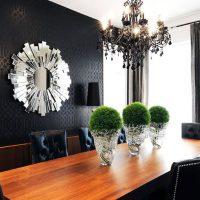 šviesaus dizaino namai art deco stiliaus nuotraukoje