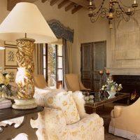 skaists franču stila viesistabas dizaina attēls