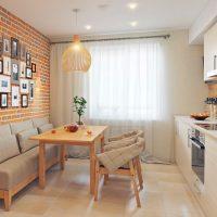spilgts eko virtuves interjera attēls