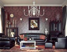 šiks dzīvokļa dizains art deco stila attēlā