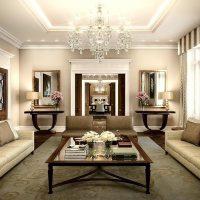 šviesus kambario interjeras art deco stiliaus paveiksle