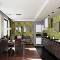 gaišs dzīvokļa stils šokolādes krāsas fotoattēlā