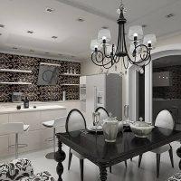 šviesaus dizaino namas art deco nuotraukoje