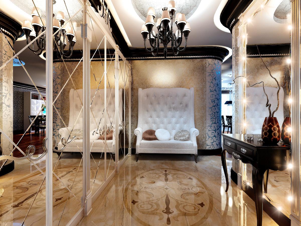 šviesus art deco stiliaus buto interjeras
