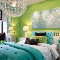 skaista pistāciju krāsa virtuves foto interjerā