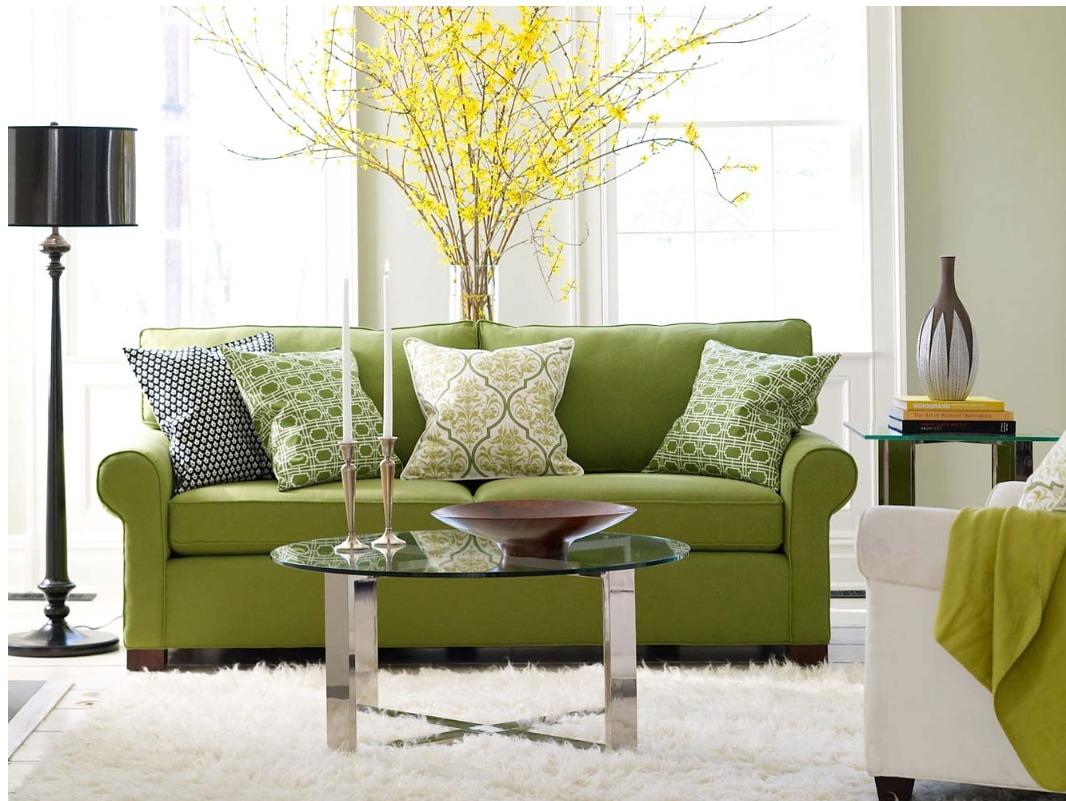 skaista pistāciju krāsa dzīvokļa interjerā