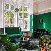 koša pistāciju krāsa dzīvokļa attēla dekorā