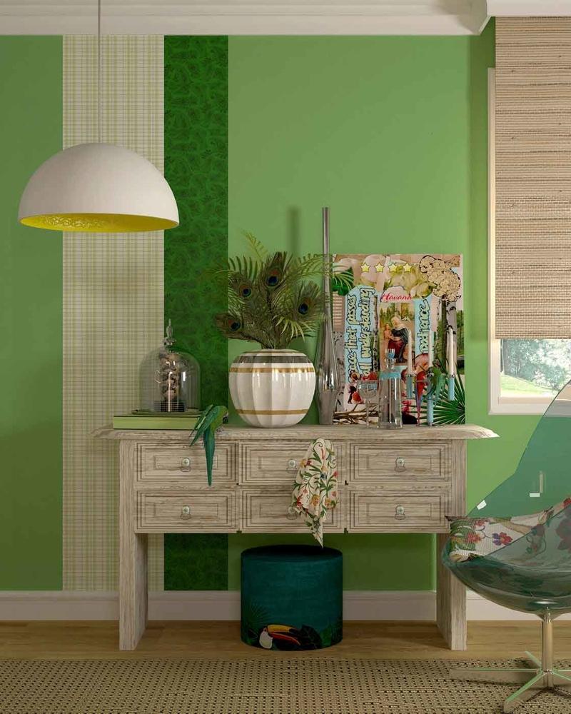 skaista pistāciju krāsa guļamistabas stilā