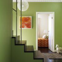 koša pistāciju krāsa virtuves attēla interjerā
