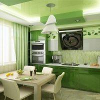 gaiša pistāciju krāsa dzīvokļa attēla interjerā