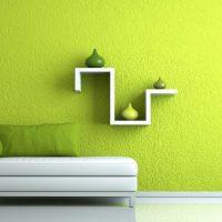 spilgta pistāciju krāsa guļamistabas attēla stilā