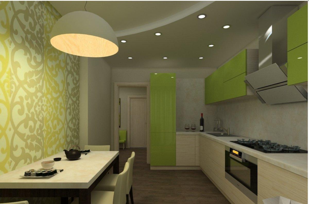 neparasta pistāciju krāsa dzīvokļa interjerā