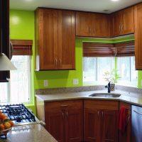skaista pistāciju krāsa virtuves foto dekorā