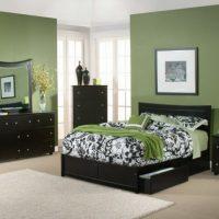 neparasta pistāciju krāsa guļamistabas foto stilā