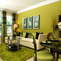 gaiša pistāciju krāsa virtuves attēla interjerā
