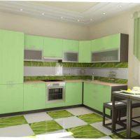 koša pistāciju krāsa dzīvokļa foto dekorā