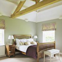 skaists pistāciju krāsas guļamistabas stila attēls