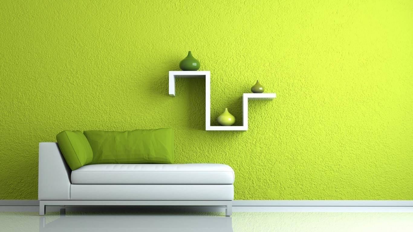 neparasta pistāciju krāsa guļamistabas dekorā