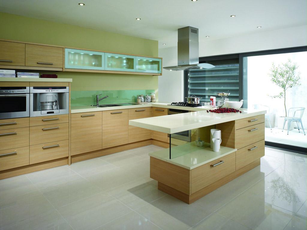 skaista pistāciju krāsa virtuves stilā