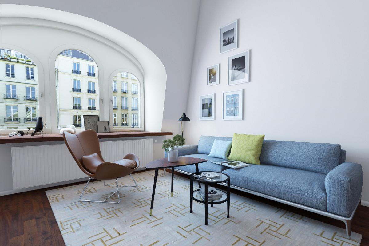 mājīgs, skaists dzīvokļa dizains