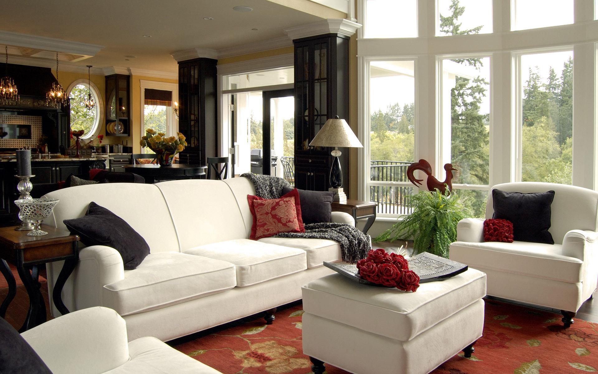mājīgs skaists viesistabas dizains