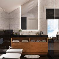 Mājīgs, gaišs dzīvokļa dizaina foto