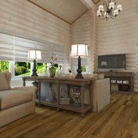 mājīgs neparasts guļamistabas interjera attēls