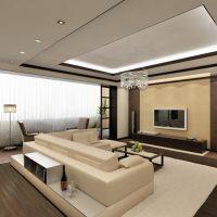 Mājīgs gaiša dekoru dzīvokļa attēls