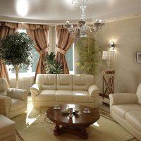 Mājīgas gaismas dizaina viesistabas foto
