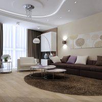 mājīgs neparasta dzīvokļa dizaina attēls