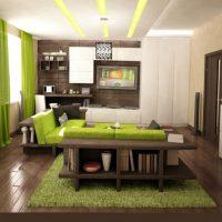 skaista pistāciju krāsa virtuves attēla stilā