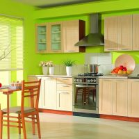skaista pistāciju krāsa dzīvokļa attēla dekorā