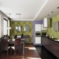 gaiša pistāciju krāsa guļamistabas attēla stilā
