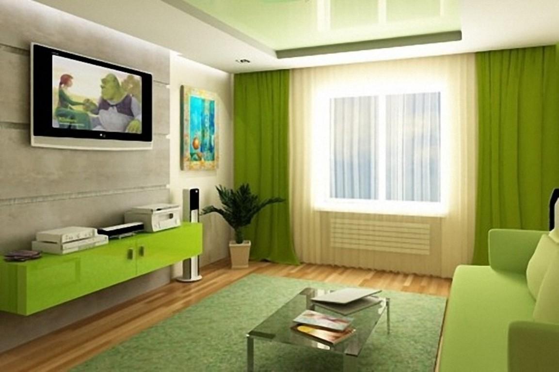 gaiša pistāciju krāsa dzīvokļa interjerā
