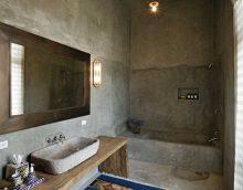 option de plâtre décoratif lumineux dans le décor de la salle de bain