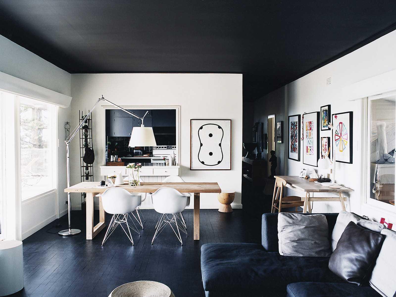 75 Contoh Menggunakan Lantai Gelap Di Pedalaman Dengan Foto