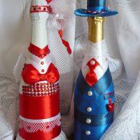 décoration de bouteille lumineuse pour l'image de style de chambre