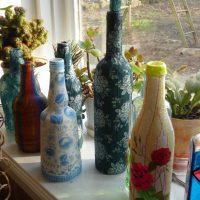 décoration de bouteille inhabituelle pour la conception de la pièce