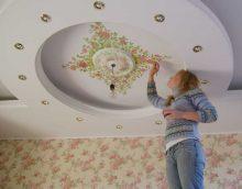 décoration de plafond lumineux avec photo supplémentaire