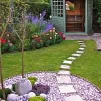 la création originale du dessin du jardin avec photo de fleurs