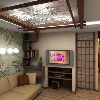 skaists istabas interjers austrumu stila attēlā