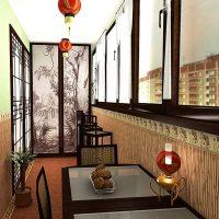 spilgts dzīvokļa dizains austrumu stila fotoattēlā