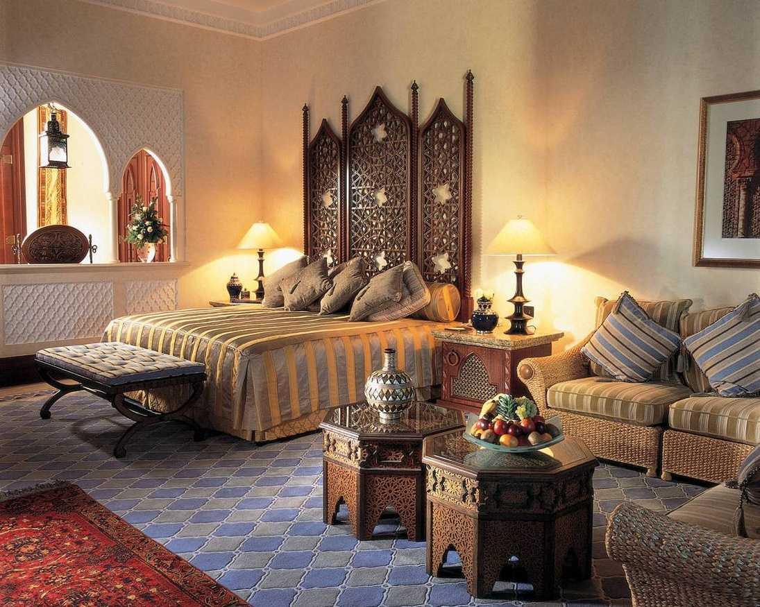 skaista stila guļamistaba austrumu stilā