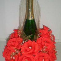 décoration de bouteille originale pour photo de style de chambre
