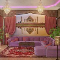 mūsdienu austrumu stila viesistabas fasādes attēls