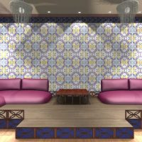 mūsdienu stila viesistabas austrumu stila foto