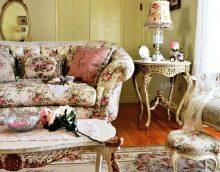 spilgta dizaina dzīvojamā istaba vintage stila fotoattēlā