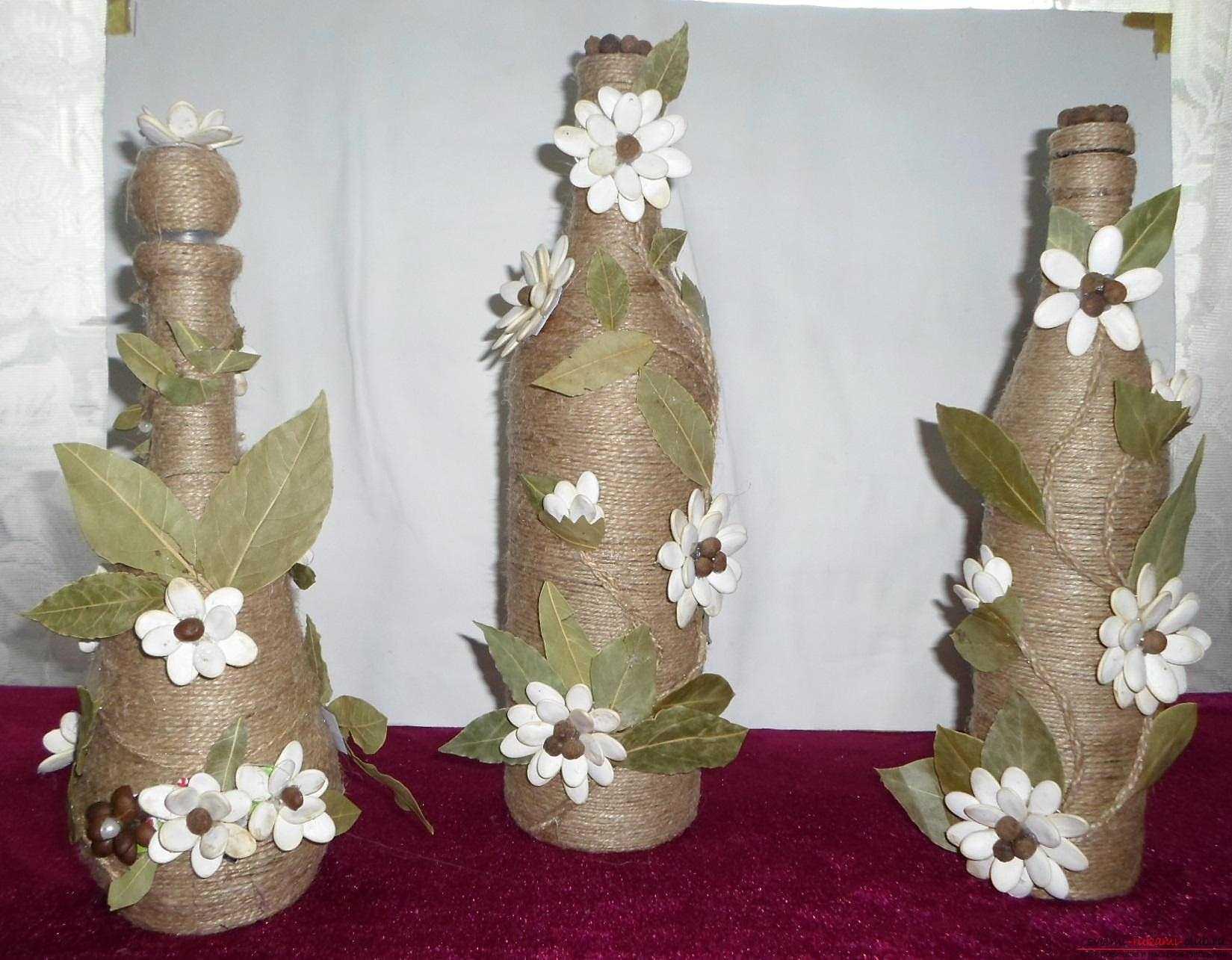 design inhabituel de bouteilles pour l'intérieur de la pièce